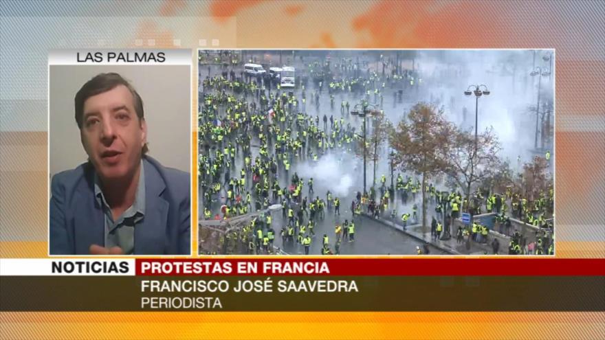 Saavedra: La situación en Francia podría propagarse a toda Europa