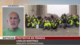Martínez: Protestas y represión policial dañan imagen de Macron