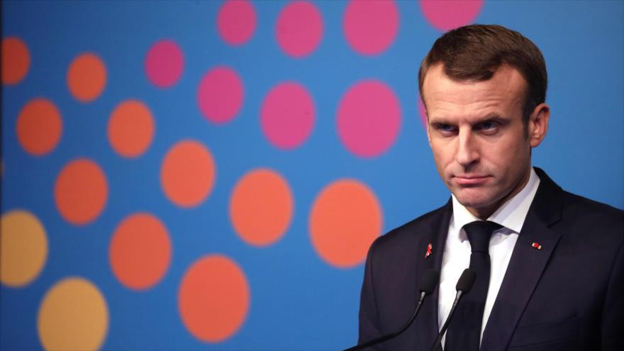 El presidente francés, Emmanuel Macron, en una conferencia de prensa al margen de la cumbre G20 en Argentina, 1 de diciembre de 2018. (Foto: AFP)