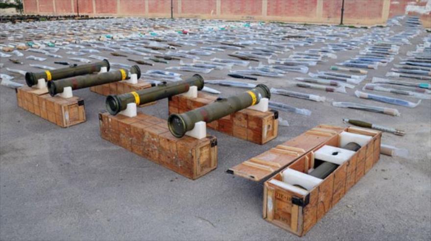 Ejército sirio halla armas estadounidenses de terroristas en el sur