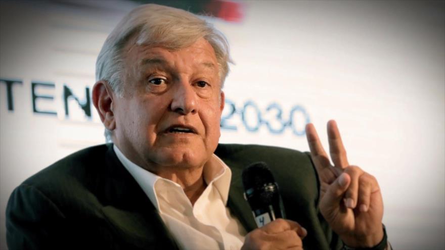 Gráfica de López Obrador, nuevo presidente de México