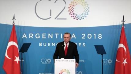 Erdogan lamenta ausencia de caso Khashoggi en agenda de G20