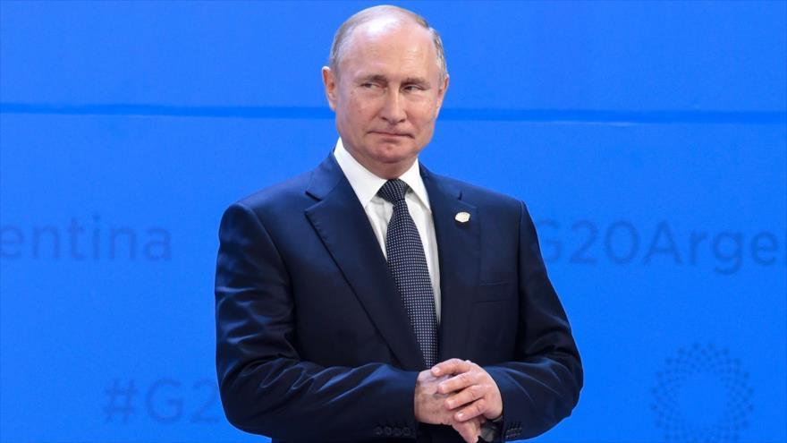 El presidente ruso, Vládimir Putin, posa para una foto durante la cumbre del G20, Argentina, 30 de noviembre de 2018. (Foto: AFP)