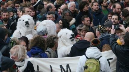 Masiva marcha en Bélgica por mala gestión del cambio climático