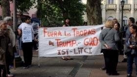 Uruguayos protestan en Montevideo contra la cumbre del G20