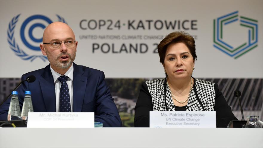 La secretaria ejecutiva de la ONU para el Cambio Climático, Patricia Espinosa, en la COP24 en Polonia, 2 de diciembre de 2018. (Foto: AFP)