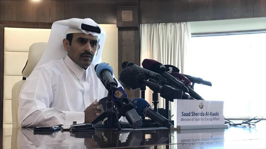 EL ministro catarí de Energía, Saad al-Kaabi, anuncia retirada de su país de la OPEP, 3 de diciembre de 2018. (Foto: AFP)