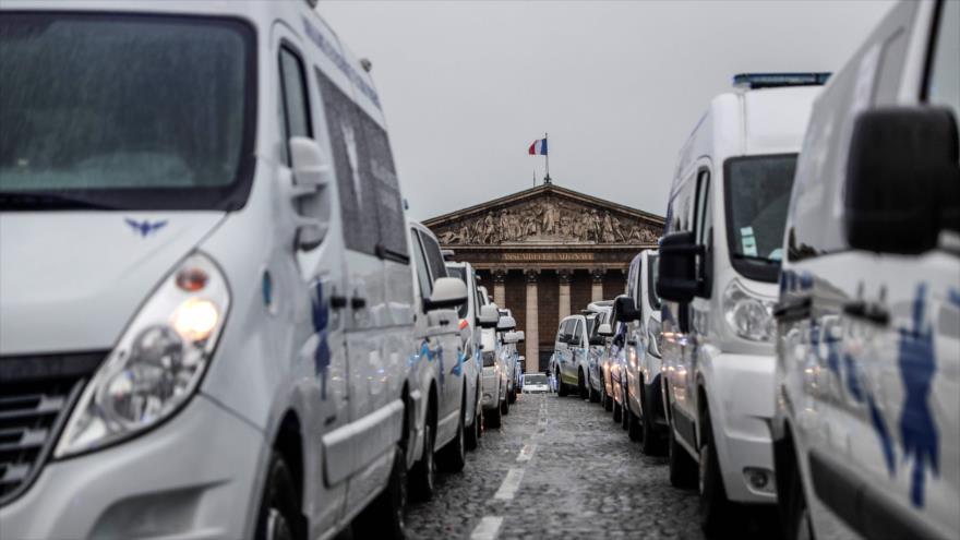 Protesta de conductores de ambulancias en Francia