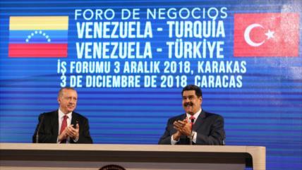 Erdogan apoya a Venezuela ante las sanciones y la guerra económica