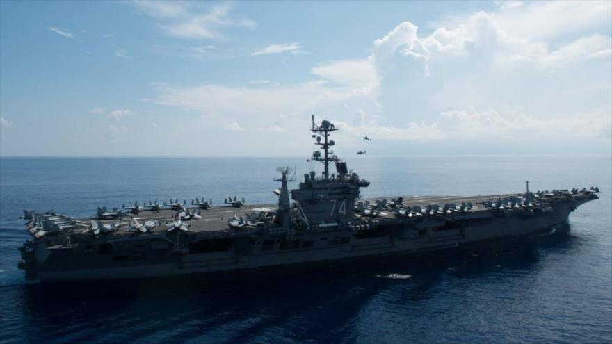 EEUU intensifica militarismo en Golfo Pérsico enviando portaviones