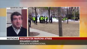 """""""Protestas le cuestan a Macron un enorme rebaje en presidenciales"""""""