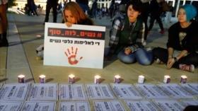 Israelíes protestan contra la violencia hacia mujeres
