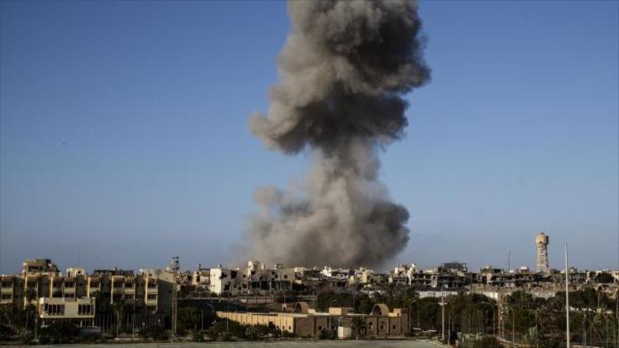 Un ataque aéreo en Sirte, Libia, 28 de septiembre de 2016.