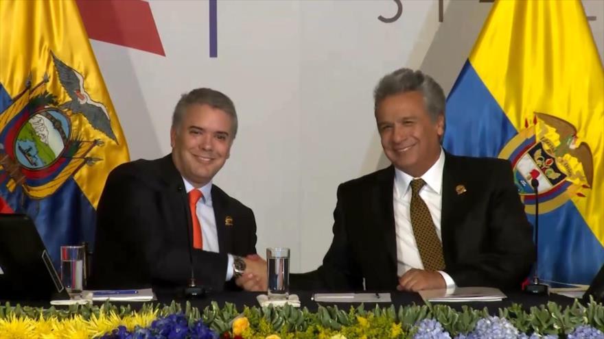 Iván Duque llega a Ecuador en medio de una tormenta política