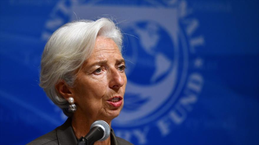 Christine Lagarde, directora ejecutiva del FMI, habla en una conferencia en Tokio, capital japonesa, 4 de octubre de 2018. (Foto: AFP)
