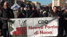 Protestas por la subida del precio de los peajes en Italia
