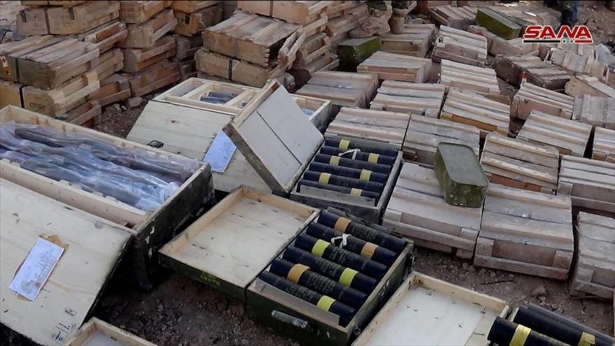 Vídeo: Ejército sirio incauta en Daraa armas de EEUU e Israel