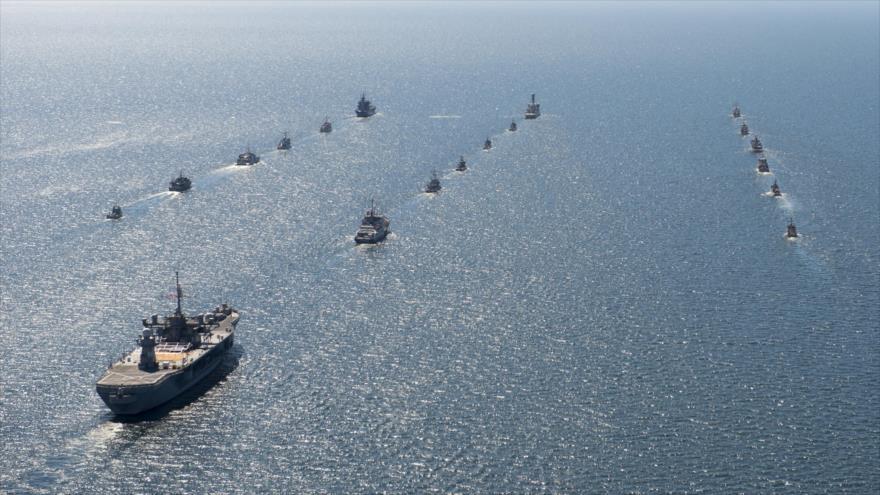 Buques de guerra de la Sexta Flota de Estados Unidos.