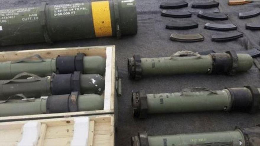 Armas de fabricación estadounidense e israelí incautadas por el Ejército sirio en Damasco y Al-Quneitra, 6 de diciembre de 2018. (Foto: SANA)