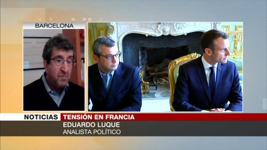 Luque: Protestas someten a Macron a extrema debilidad política