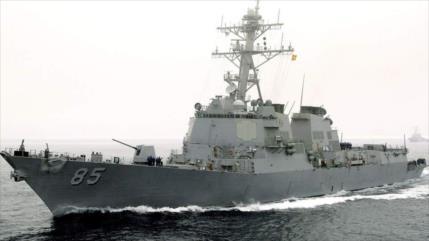 Buques y cazas rusos desafían a destructor de EEUU en mar de Japón