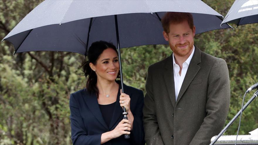 El príncipe Harry y su esposa Meghan, en Auckland, Nueva Zelanda, 30 de octubre de 2018. (Foto: AFP)