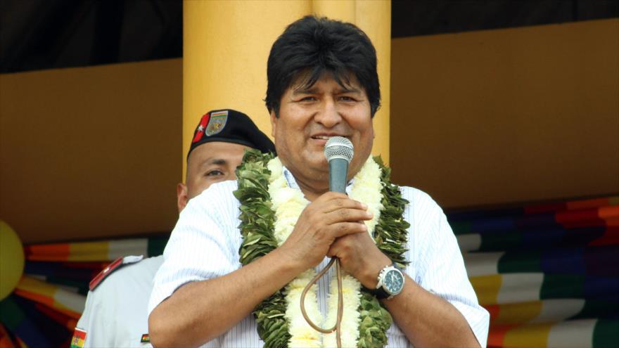 El presidente boliviano, Evo Morales, durante una visita al municipio de Villa Tunari (este), 6 de diciembre de 2018. (Foto: ABI)