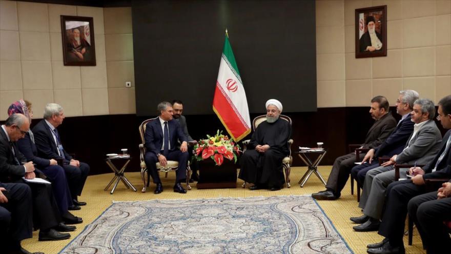 Rohani: 'Terceros países no debilitarán las relaciones Irán-Rusia'