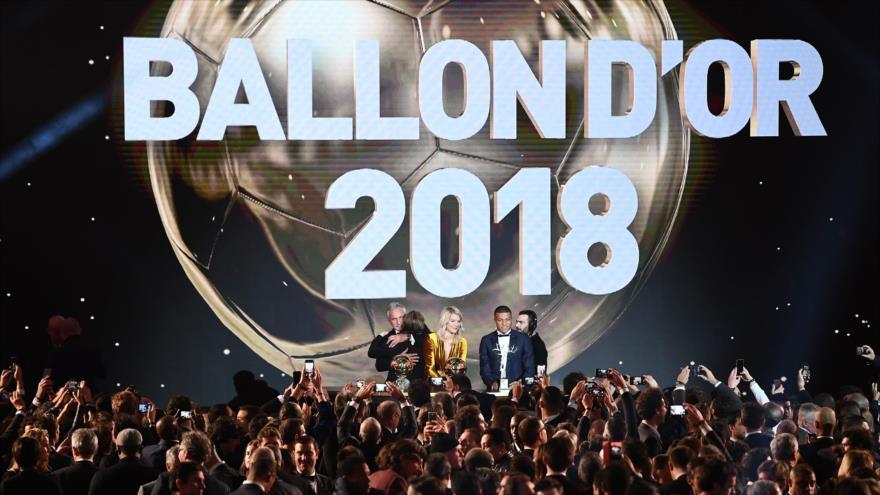 Ceremonia de premiación del Balón de Oro de FIFA en el Gran Palacio de París, 3 de diciembre de 2018, (Foto: AFP).
