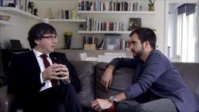 Puigdemont atribuya la irrupción de Vox al discurso del Rey