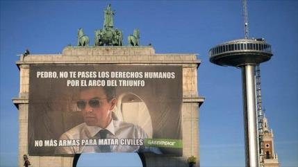 Greenpeace insta a Sánchez a frenar venta de armas a Arabia Saudí