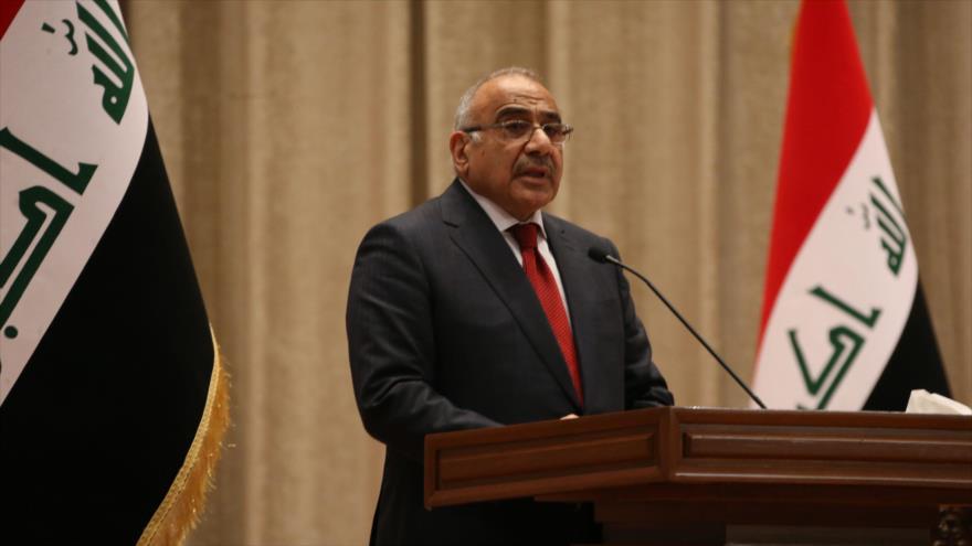 Premier iraquí, Adel Abdul-Mahdi, interviene en el Parlamento, 24 de octubre de 2018. (Foto: AFP)