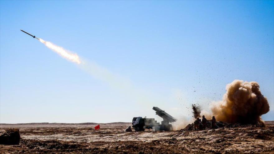 Una maniobra de la Fuerza Terrestre del Cuerpo de Guardianes de la Revolución Islámica (CGRI) de Irán.
