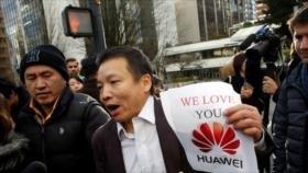 Manifestantes en Canadá piden liberación de ejecutiva de Huawei