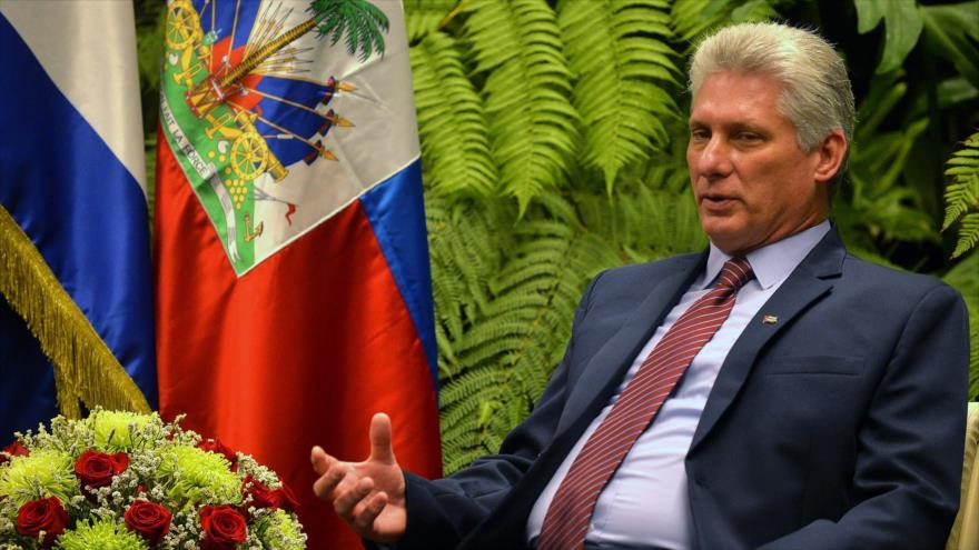 El presidente de Cuba, Miguel Díaz-Canel, en el Palacio de la Revolución Cubana, 3 de diciembre de 2018. (Foto: AFP)