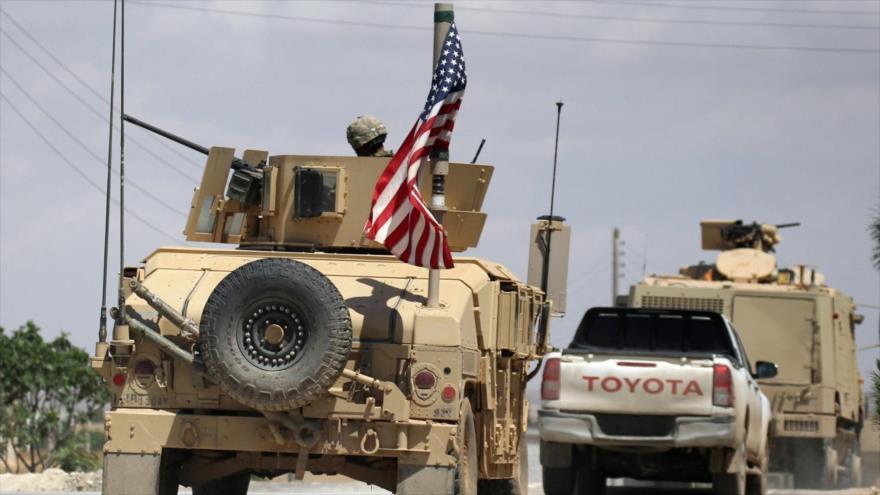 Una caravana de vehículos militares de EE.UU. en Siria.