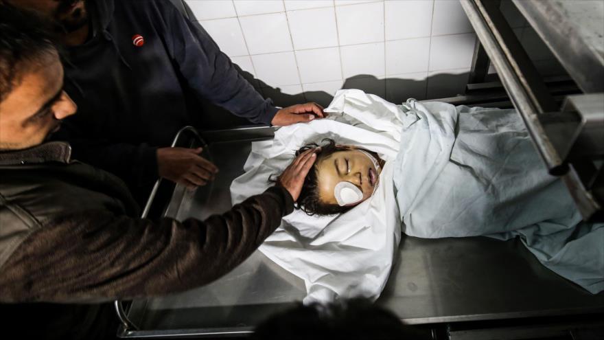 Muere niño palestino de cinco años herido por fuego israelí en Gaza