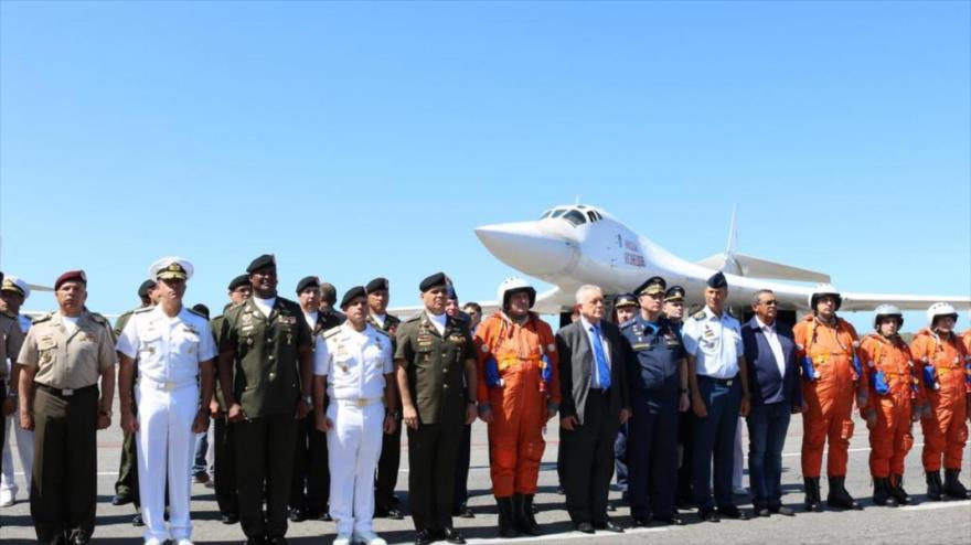 El aeropuerto de Maiquetía Simón Bolívar, en Caracas, donde dos bombarderos estratégicos Tu-160 rusos aterrizaron, 10 de diciembre de 2018.
