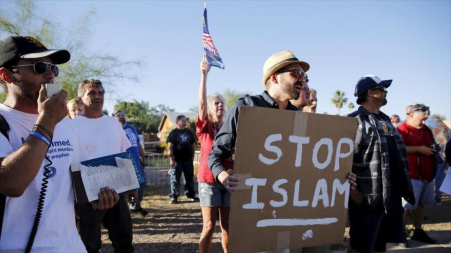 Una manifestación contra el Islam en Phoenix, Arizona, 29 de mayo de 2015.