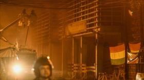 Manifestantes queman tribunal electoral en el este de Bolivia