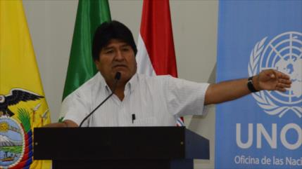 Morales repudia 'vandalismo' de la derecha en Santa Cruz