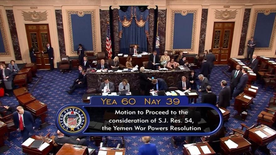 Senado de EEUU seguirá debates para cesar apoyo a guerra en Yemen