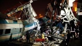 Vídeo: Accidente de tren en Turquía deja 7 muertos y 46 heridos