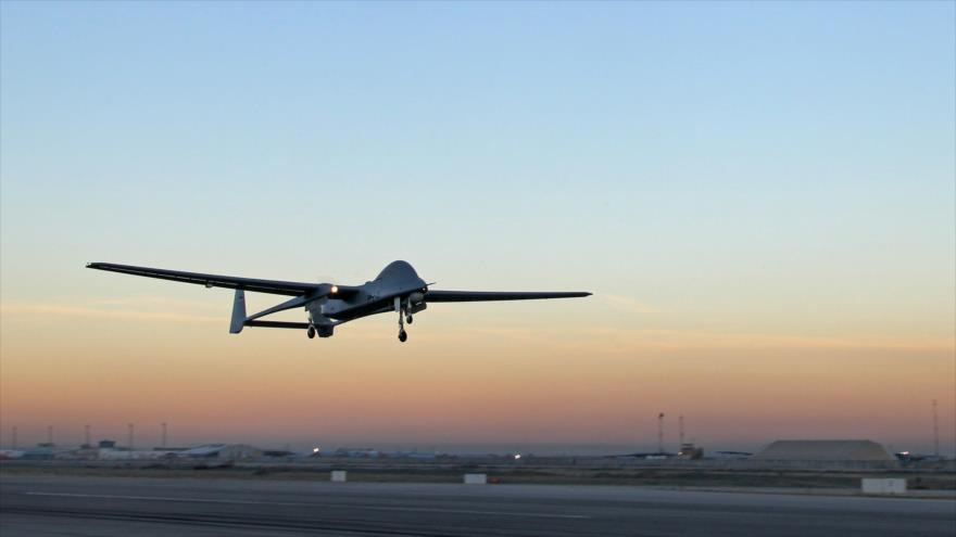 Un dron de reconocimiento Heron 1, fabricado por la industria aeroespacial de Israel (IAI, por sus siglas en inglés), sobrevuela Afganistán.