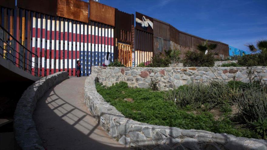 Frontera de Estados Unidos en Playas de Tijuana en el noroeste de México