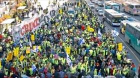 """""""Chalecos amarillos"""" de Israel protestan por la corrupción"""