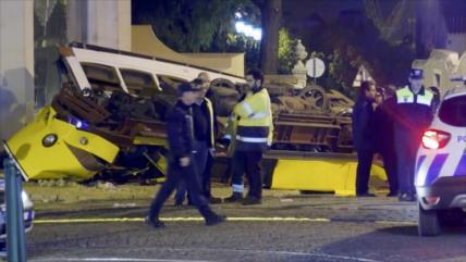 Descarrilamiento de tranvía en Portugal deja más de 28 heridos
