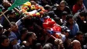 Funeral de adolescente palestino asesinado por fuerzas israelíes
