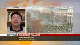 """""""Chalecos amarillos"""", """"nuevo actor político"""" en Francia"""