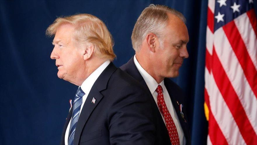 Trump anuncia vía Twitter dimisión de su secretario del Interior